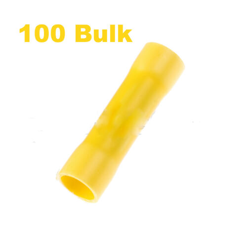 12-10  Gauge Butt Splices Vinyl insulated-Wire Terminals -Bulk of 100-Yellow