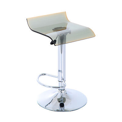Bar Stool Chair Breakfast Kitchen Adjustable Height Metal Base Gas Lift