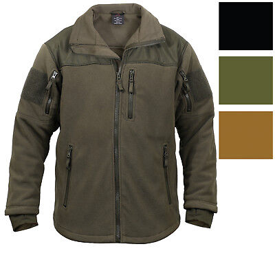 Spec Ops Tactical Fleece Jacket Full Zip Military Army Uniform Sports Top Coat Fleece Uniform