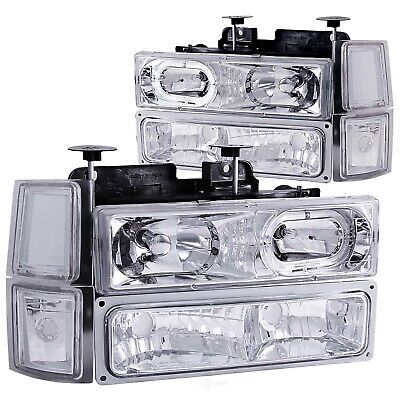 Headlight Assembly-with halo Crystal Lens with signal And Side Markers Anzo