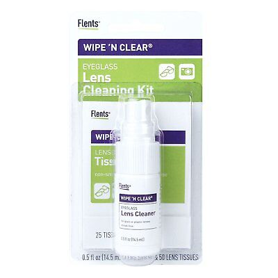 Lens Cleaning Spray - Flents Wipe N Clear Lens Cleaning Kit ()