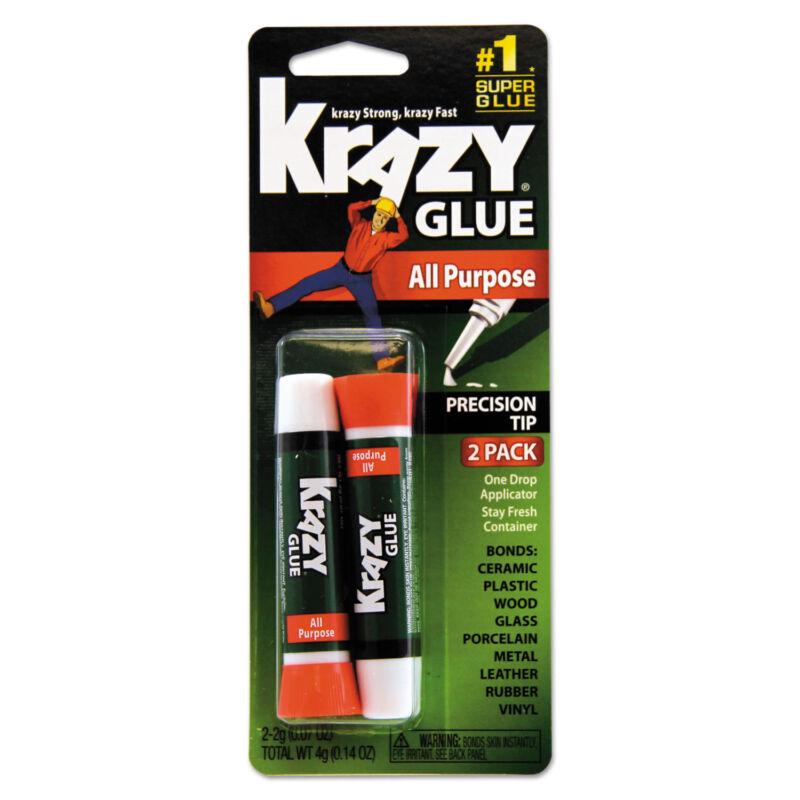 All Purpose Krazy Glue 2 g Clear 2 per pack KG517