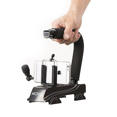 Movo Smartphone Video Kit w/Stabilizer Handle & Microphone for iPhone & Android