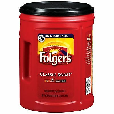 Folgers Classic Roast Ground Coffee 48 Oz  2 Pack