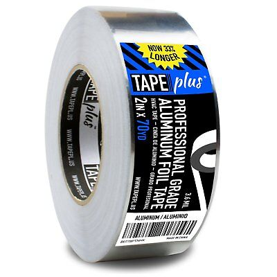 Professional Grade Aluminum Foil Tape - 2 Inch By 70 Yards - Perfect For Hvac