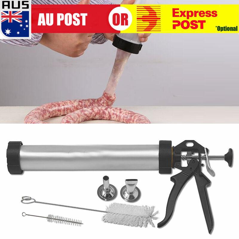 "15"" New Beef Jerky Gun Food Grade Aluminium Homemade Sausage Making Cannon Kit X"