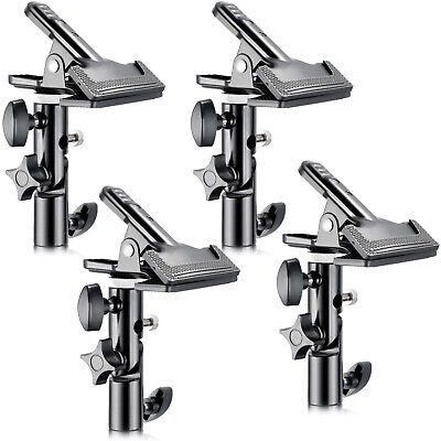 """Neewer 4 Pieces Photo Studio Heavy Duty Metal Clamp Holder with 5/8"""" Light Stand"""