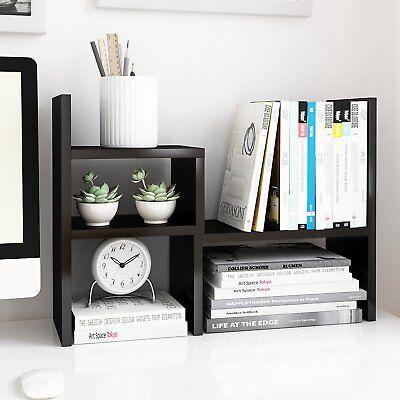 Jerry Maggie Desktop Organizer Office Storage Rack Adjustable Wood Display