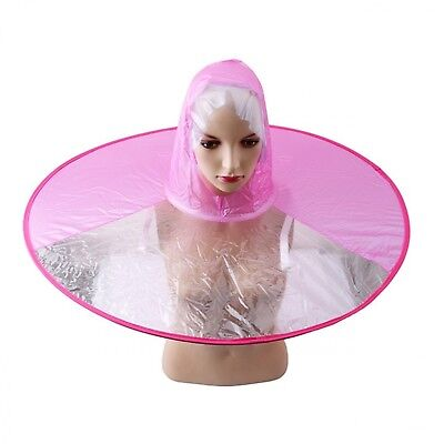 Creative Raincoat Umbrella Headwear Foldable Outdoor Cover Transparent Hat Cap