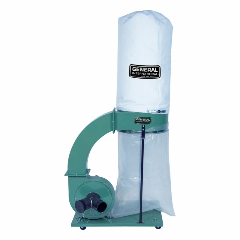 General International 1.5 HP 14 Amp Commercial Dust Collector with 2 Micron Bag