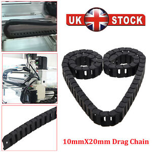 10 x 20mm 1M Open On Both Side Plastic Towline Cable Drag Chain Y5