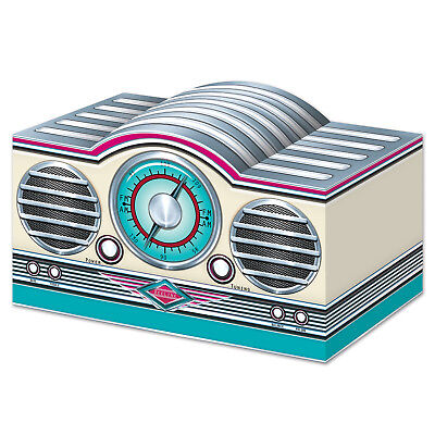 50s Grease Sock Hop Party Decoration ROCK & ROLL RADIO CENTERPIECE - 50s Party Decor