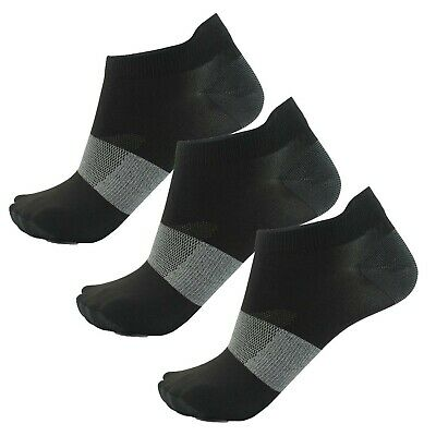 Asics Lyte 3 Pack Mens Running Fitness Training Ankle Sock Black