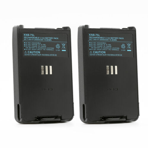 2X 7.4V 2000mah LI-ion Battery Packs for Kenwood KNB-75L KNB-74LW TH-D74A