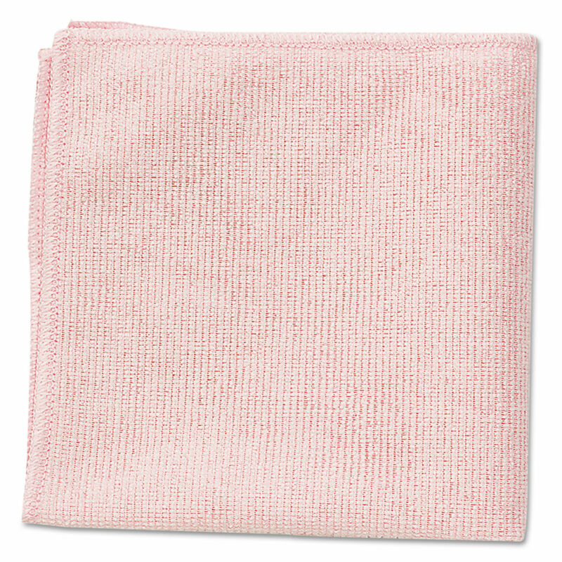Rubbermaid Commercial Microfiber Cleaning Cloths 16 x 16 Pink 24/Pack 1820581