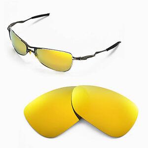 New-Walleva-Polarized-24K-Gold-Lenses-For-Oakley-Crosshair
