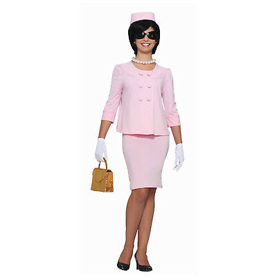 Jackie Kennedy Costume (Jackie O Womens Costume Pink Suit Dress Hat Jacket Lady Kennedy Onassis)