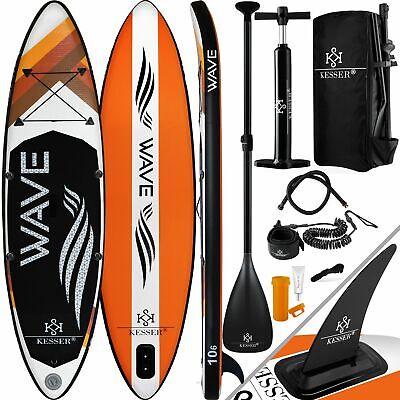 RETOURE SUP Board Set 320cm Stand Up Paddling aufblasbar Surfboard Paddel SUP