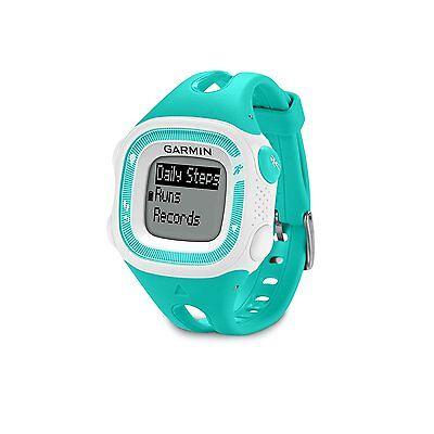 Garmin Forerunner 15 Teal White Gps Running Watch   010 01241 21   Brand New