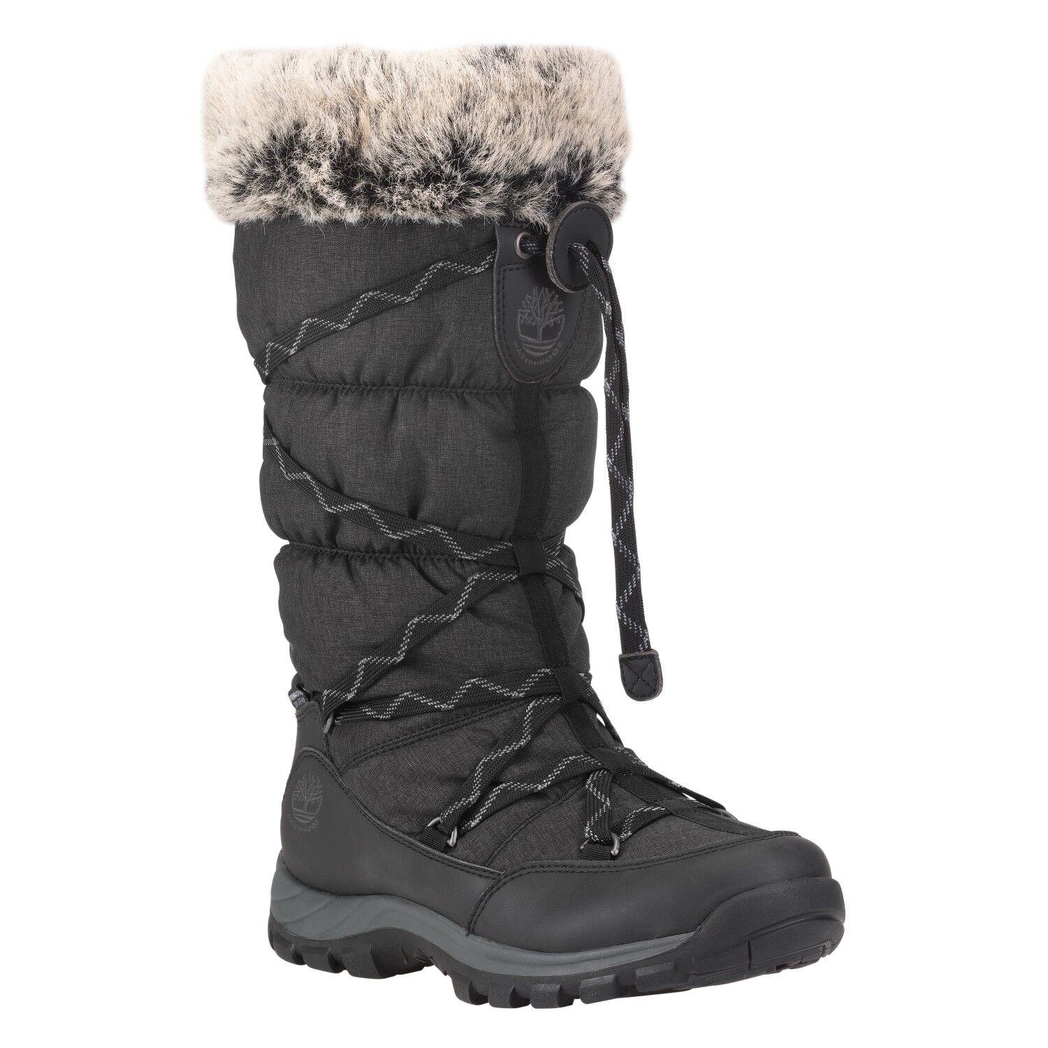 Timberland Women's Chillberg Over the Chill Black Winter Snow Boots 2160R Size 6