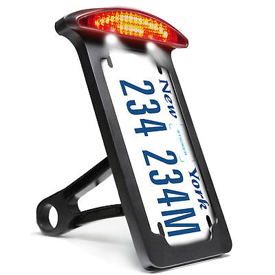 LICENSE PLATE NUMBER BRACKET SIDE MOUNT LED TAIL BRAKE LIGHT 4 <em>YAMAHA</em>