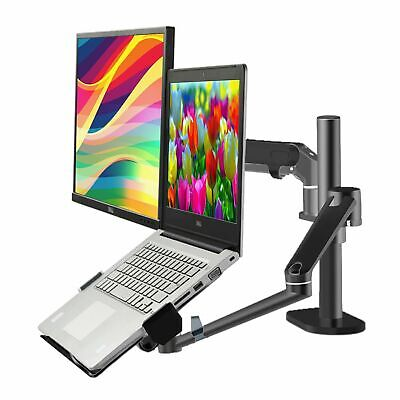 Height Adjustable Monitor10-27 Laptop10-17 Desk Office Stand With Gas Arm