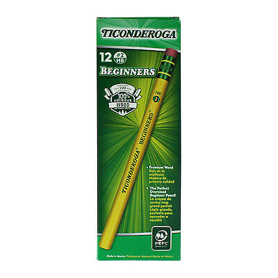Dixonr Beginners Yellow Elementary Pencils With Eraser Box Of 12
