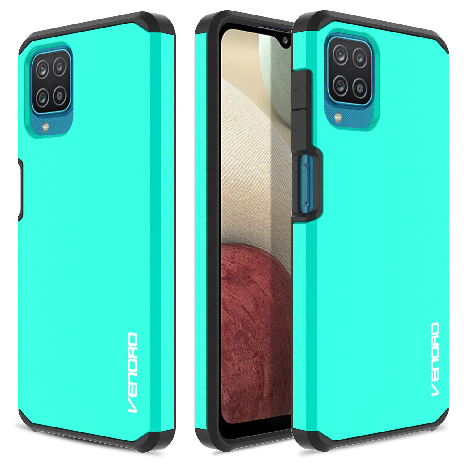 For Samsung Galaxy A12 A32 5G Rugged Armor Case Slim Cover /HD Screen Protector Cases, Covers & Skins