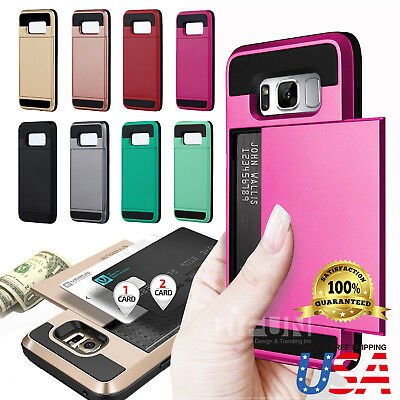 Wallet Case Cover (Shockproof Wallet Credit Card Holder Case Cover for Samsung Galaxy)