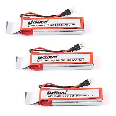 3 pcs 3.7V 500mAh Rechargeable Lipo Batteries for UDI U28W RC Quadcopter Drone