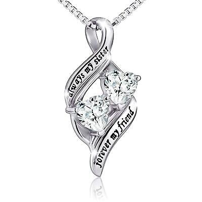 [BIRTHDAY GIFTS FOR FRIEND SISTER NIECE] ALWAYS MY SISTER MY FRIEND NECKLACE ()