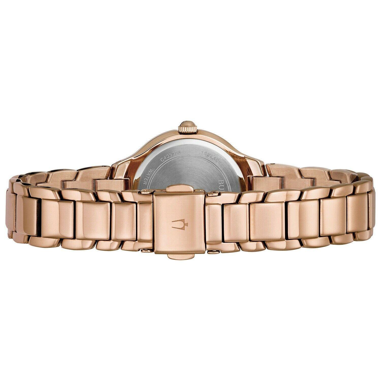 Bulova Classic Women's Quartz Rose Gold Tone Dial 28mm Watch 97L151