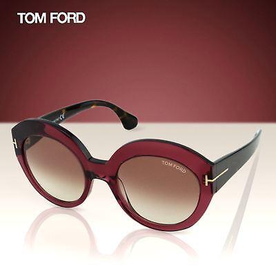 ccccfad43c Tom Ford Rachel FT0533 71F Women Burgundy Red Thick Frame Cat-Eye Sunglasses