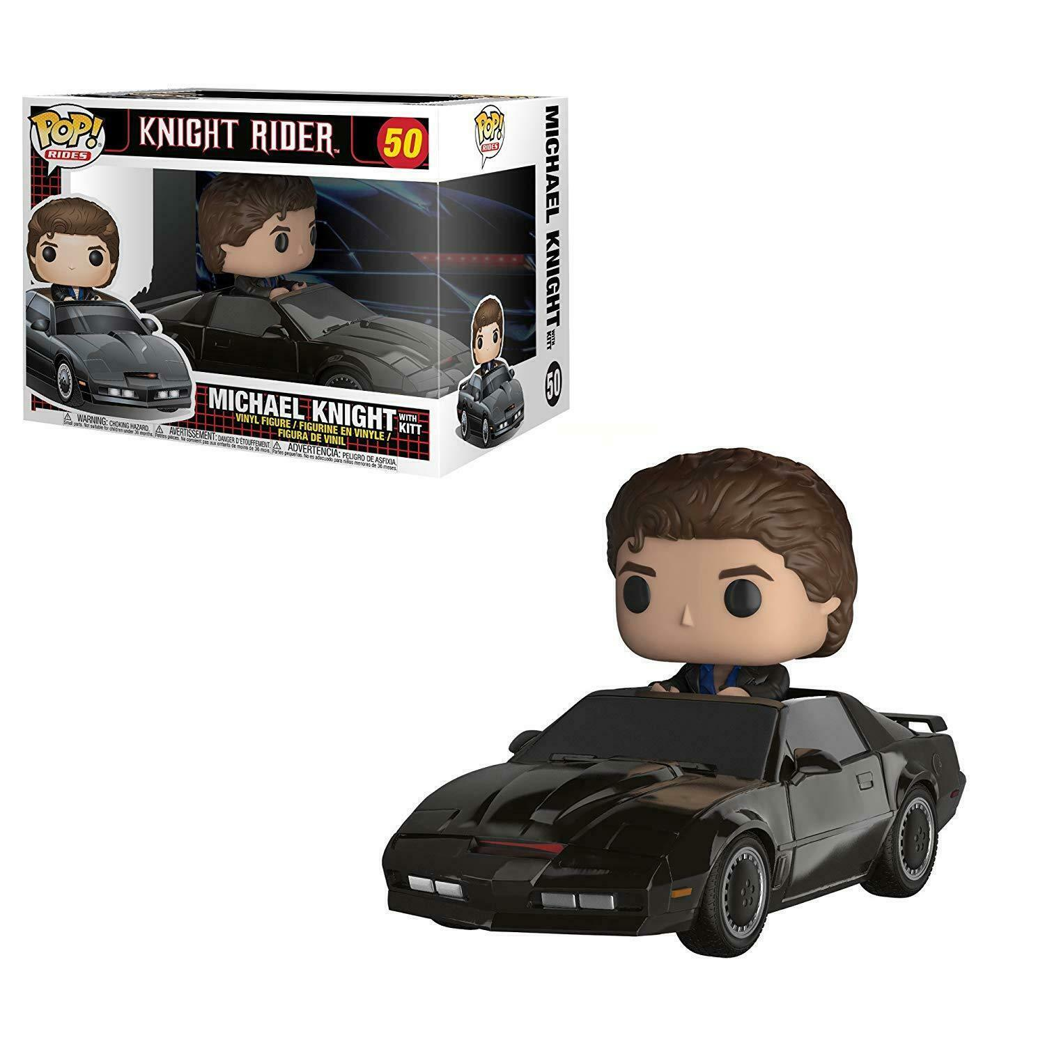 Funko Pop Ride Knight Rider Michael Knight with Kitt Vinyl In-Stock Free Ship