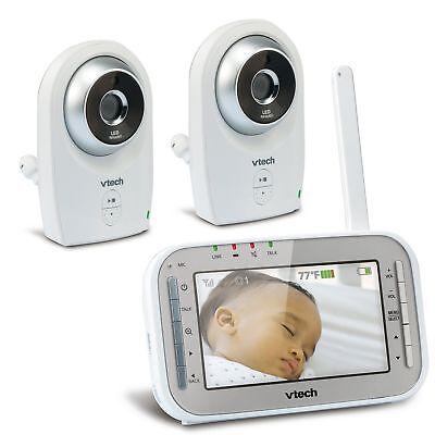 VTech VM341-2 Video Baby Monitor w Automatic Night Vision 1,000 fT range FREE SH