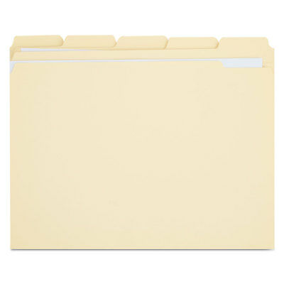 Universal File Folders 15 Cut Assorted Two-ply Top Tab Letter Manila 100box