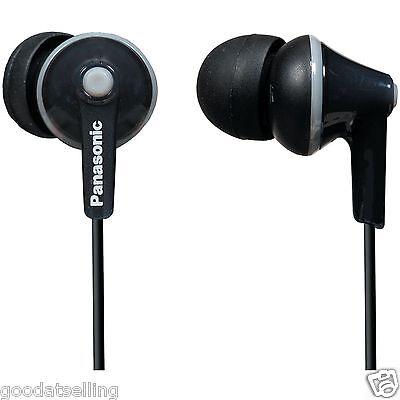 Panasonic RP-HJE125 (Black) In-Ear Headphones Earphones for MP3 Music Player