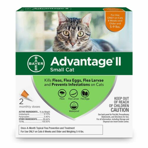 Advantage II Flea Treatment and Prevention for Small Cats 5-9 Pounds 2 pack