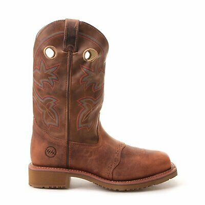 Double-H Men's Work Boots Brown Wide Square Composite Toe - Double H Mens Boots