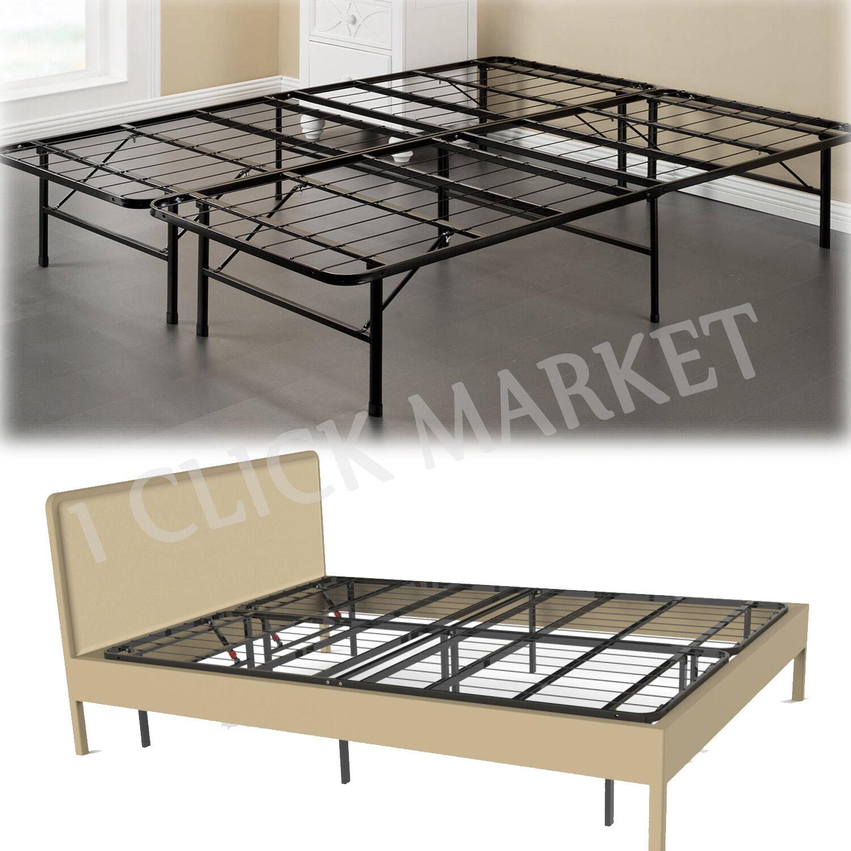 FULL Size Metal Bed Frame Folding Platform Heavy Duty Mattre