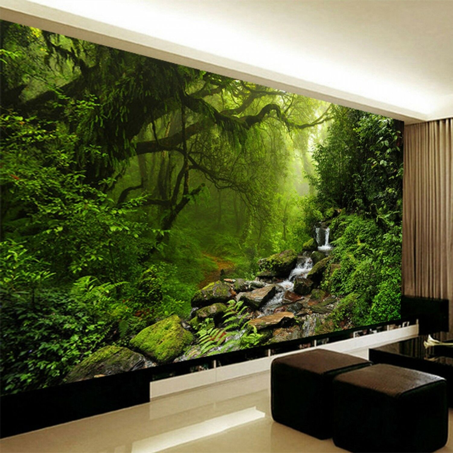 Photo Wallpaper 3d Stereo Virgin Forest Nature Landscape Wall