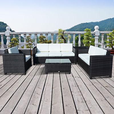 Garden Furniture - Outdoor Rattan Garden Patio Wicker Weave Furniture Table Sofa Chair Mixed Brown