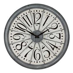 404-3950 La Crosse Clock Company 20 Decorative Metal Analog Wall Clock
