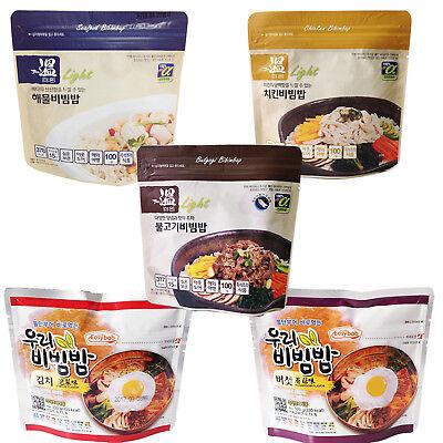 x 5 kinds 5 Taste Korean Military MRE Camping Food Bibimbap Emergency Rations