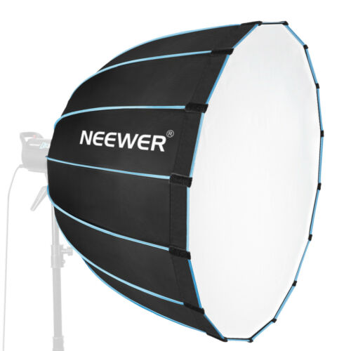 "Neewer 35"" Dodecagon Softbox with Blue Rim and Bowens Mount for Flash Monolight"