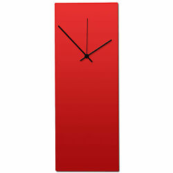 Redout Black Clock | Contemporary Metal Wall Clock, Red Black Modern Minimalism