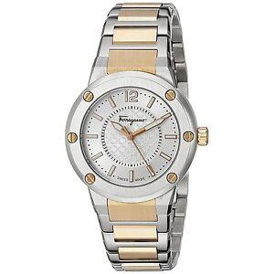 Ferragamo FIG040015 Women's F-80 Two tone rose gold Quartz Watch
