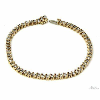 14K Gold 2.37ctw Diamond Tennis Line Bracelet