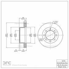 Disc Brake Rotor fits 2005-2012 Ford F-350 Super Duty F