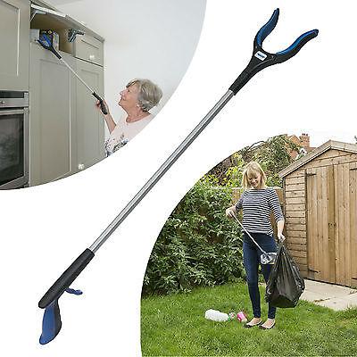 "Pick Up Tool Reacher Grabber Trash Helping Hand 32"" Long Reach Arm Heavy Duty"